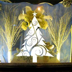 Handmade Vintage Christmas Tree Vine Star Sticker Shop Window Wall Decor Decal