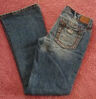 Women's Vintage Aeropostale Distressed Hailey Skinny Flare Jeans Size 1/2 Short