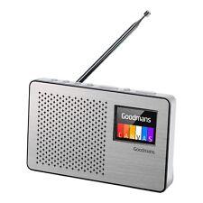 "Goodmans CANVAS2STE DAB/FM Radio 2.4"" Colour screen Silver Finish | Battery/ AC"