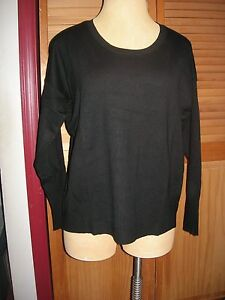 Lane Bryant Black Seamed Scoop Neck Sweater 14/16 Fits 14W 16W 0X 1X
