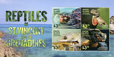 Isla Union Granadinas St Vincent 2015 Mnh Reptiles 4v m/s Tortugas Lagartos