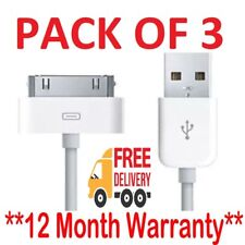 Genuine Charging Cable Charger Lead for Apple iPhone 4, 4S, 3GS, iPod, iPad2 & 1