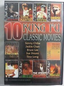 10 Kung Fu Classic Movies David J Action Martial Arts Bruce Lee Jackie Chan