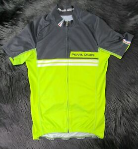Pre-owned Pearl Izumi Ladies Full Zip Bike Jersey Size Small Bright Green Cycle