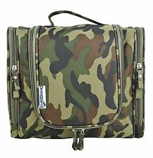 OrrinSports Water Resistant Cosmetic Bag Big Size Toiletry Bag Hanging for Camo