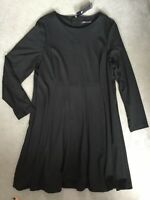 M&S BLACK FIT AND FLARE STYLE DRESS WITH LONG SLEEVES AND REGULAR FIT - 20- BNWT
