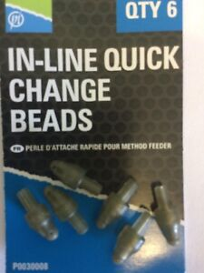 PRESTON INNOVATIONS FISHING - IN LINE QUICK CHANGE BEADS -  6 PER PACK