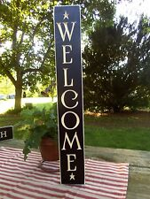 24 Black Primitive Wood Sign Welcome Rustic Country Home Decor Made In Usa