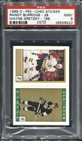 Wayne Gretzky 166 Randy Burridge 28 1989 O-Pee-Chee Sticker PSA 9 Mint