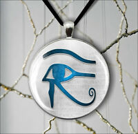 EGYPT ANTIQUE GOD EYE OF RA SYMBOL  PENDANT NECKLACE -spn8Z