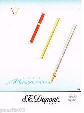 PUBLICITE ADVERTISING 065  1997  DUPONT  les stylos  LADY