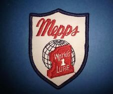 Vintage 1970's Mepps Fishing Lures Tackle Sew On Hat Jacket Patch Crest