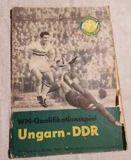1965 DDR-Ungarn WM Quali  Programmheft  Länderspiel 23.05.1965 in Leipzig