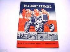 Allis Chalmers B Farm Tractor Brochure  from the 1930's  24 pages