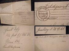 Feldpost Flak Ers.Abt.92 Wien Hamburg 2.WK WWII 3.Reich Brief Luftwaffe Rußland