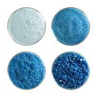 1/4 lb Bullseye COE 90 Egyptian Blue Opal Kiln Fusing Glass Frit Fusing Supplies