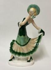 1920s Art Deco Dancing Lady - Flapper Girl Goldscheider Era Interior Design