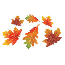 12 x Autumn Leaves Cut Outs Thanksgiving Harvest Wall Window Table Decoration