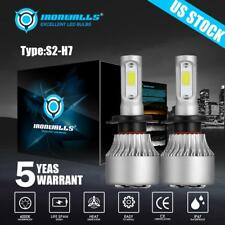 2PCS H7 COB LED Headlight Turbo Light Bulbs 1500W White 6500K High/Low Beam/Fog