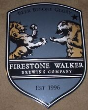 FIRESTONE WALKER parabola METAL TACKER SIGN craft beer brewing brewery
