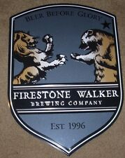 FIRESTONE WALKER parabola METAL TACKER SIGN craft beer brewing brewery