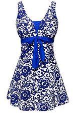 Summer Mae Women's Bowknot Printing Skirt Spa Swimsuit Bathing Swimwear