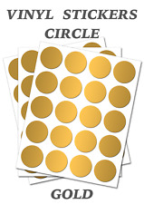 1000 Round Gold Circles - Self Adhesive Waterproof Vinyl Labels  size 20mm
