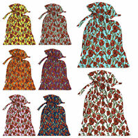 Lot of 5 Potli Carry Bag Jewellery Pouches Gift Colorful Pouch Designer Pouch Large Batawas Christmas Gift Bags RPP00073A-1-PAR
