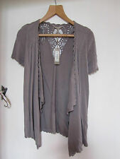 Brown Short Sleeve Cardigan with No Fastening in Size XS / size 6 - 8 - NWT