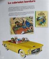 Voiture Tintin 1/24 Le Cabriolet Bordure L'affaire Tournesol  Neuf + fascicule