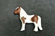 PLAYMOBIL WHITE BROWN PONY HORSE SPARE PART 30651073 FOR 5291 5660 FARM STABLE
