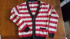 Vanguard Men's Red Stripe Knit Jacket szXL BNWT free post E17