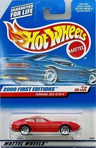 2000 Hot Wheels First Editions # 1 of 36 Red Ferrari 365 GTB/4 Collector # 061