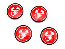 Satz Abarth Radnabendeckel CD 30 Fiat 124 Spider 4 X Hup Caps