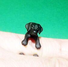 Cute Cool Black Adjustable Labrador Dog Animal Pet Ring Wrap Nickel Free Alloy