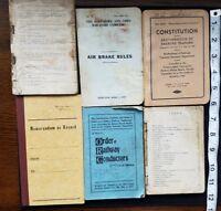 Vintage Railroad Train Books Engineer Lot Railway Conductors Manuals A11