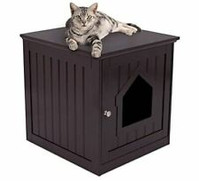 Internet's Best Decorative Cat House & Side Table - Cat Home Nightstand - Indoor