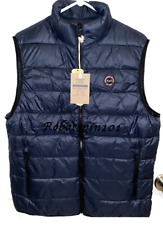NWT Abercrombie & Fitch Men Lightweight Packable Puffer Vest Jacket Navy Blue L
