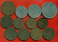 LATVIA LETTLAND SET OF 12 COINS 1,2,5,10,20 AND 50 san. 1922-39s 1166