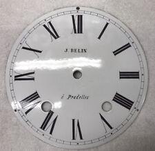 Antique Morbier Comtoise Enamel Clock Dial