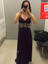 Macy's Purple and Gold Formal Dress