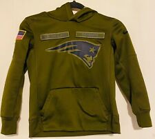 New England Patriots Salute To Service Hoodie Youth Small 2018