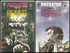 Predator vs Magnus Robot Fighter #1 & #2 (Nov 1992, Valiant Comics, Dark Horse)