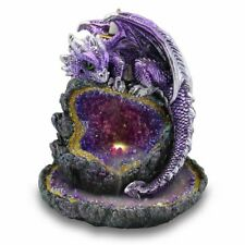 Crystal Cave Purple Dragon LED Backflow Incense Burner