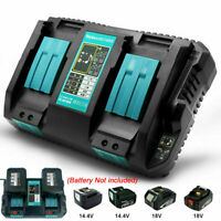 Fast Rapid Dual Twin Port Battery Charger For Makita DC18RD Li-ion LXT 14.4V/18V