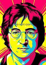 "John Lennon i beatles pop art A4 GLOSSY PHOTO RISTAMPA opere d'arte 11,75 ""X8.25"""