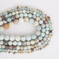 Wholesale Natural Gemstone Loose Beads Amazon Stone Jewelry Making 6mm 8mm 10mm