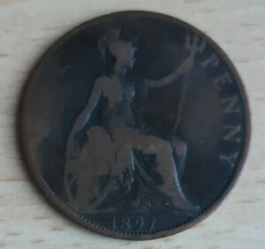 1d (One Penny) Coin  Victoria 1897 x 1 Circulated