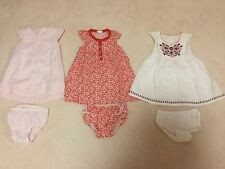 Pre-loved PureBaby Girls Dresses w Bloomers, 12-18mths