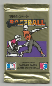 1991 O-Pee-Chee Premier Baseball Sealed Pack